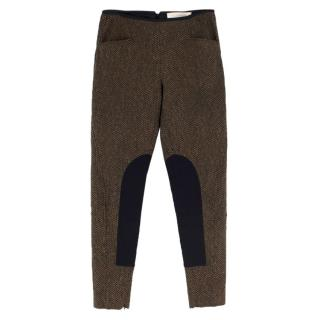 Stella McCartney Tapered Tweed Riding Pants