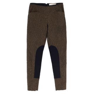 Stella McCartney Tapered Tweed Riding Pants