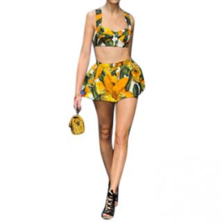 Dolce & Gabbana courgette-print runway two-piece skirt & bralette
