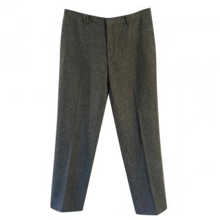 Polo Ralph Lauren Preston virgin wool charcoal herringbone trousers