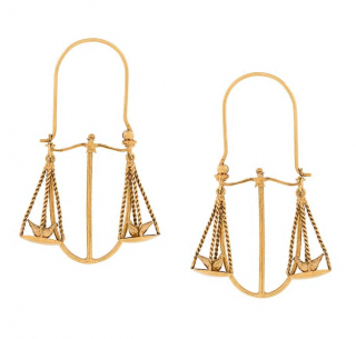 Givenchy Libra zodiac earrings