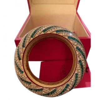 Valentino Swarovski Encrusted Round Bangle