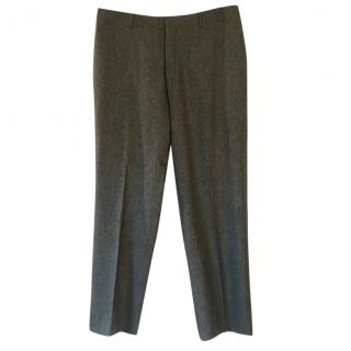 Polo Ralph Lauren Preston wool dark olive herringbone tapered trousers