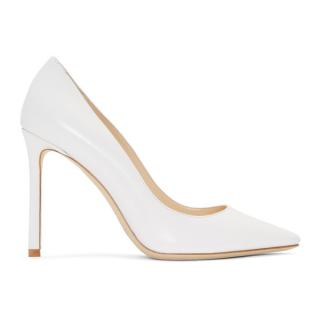 Jimmy Choo 100 Optic White Pumps