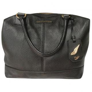 Diane Von Furstenburg leather bowling bag