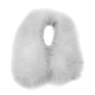 Alexander McQueen White Goat Fur Collar