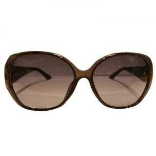 Christian Dior Frisson F dark brown sunglasses