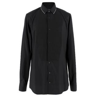 Dolce & Gabbana Black Bib-Panel Formal Shirt