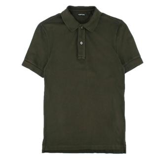 Tom Ford Green Tennis Piquet Polo Shirt
