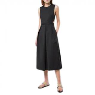 Tibi black pleated wide-leg jumpsuit
