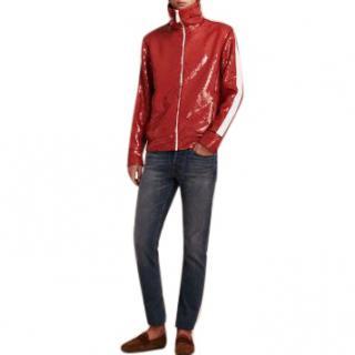 Burberry Men's Red Sequin Jacket