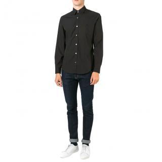 Burberry Brit single-cuff black cotton-blend poplin shirt