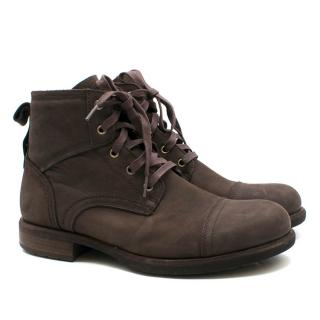 UGG Brown Nubuck Leather Boots