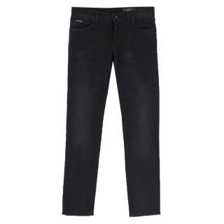 Dolce & Gabbana Black Slim-Fit Stretch Denim Jeans
