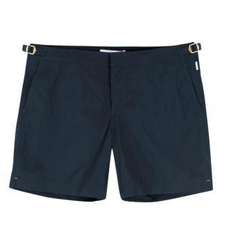 Orlebar Brown Ink Blue Bulldog Cotton-Twill Shorts