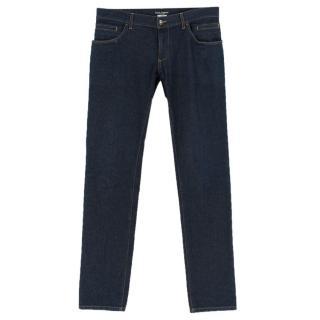 Dolce & Gabanna Men's Blue Slim-Fit Stretch Denim Jeans