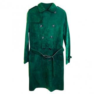 Burberry Prorsum Suede Mens Trench Coat