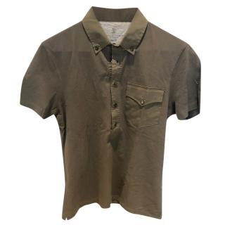 Brunello Cucinelli Khaki T shirt