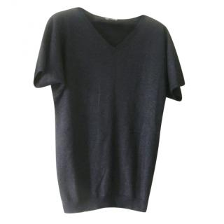 Eric Bompard Black Metallic Cashmere Blend Jumper