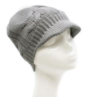 Dolce & Gabbana Grey Cable Knit Hat