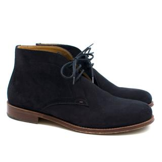 PS Paul Smith Navy Suede Desert Boots