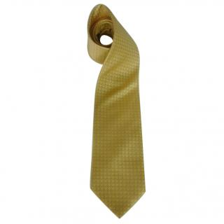 Canali Yellow and Blue Silk Neck Tie