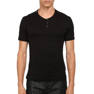 Dolce & Gabbana black cotton-jersey T-shirt
