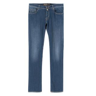 Jacob Cohen Men's Blue Straight Jeans