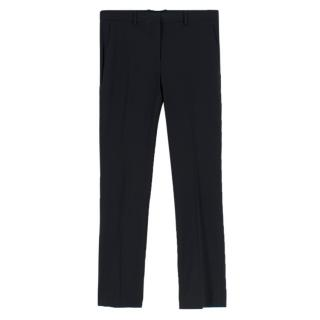 Theory Black Straight Leg Trousers