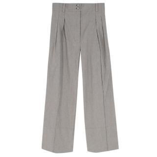 Mafalda Von Hessen Grey Paper Bag Trousers