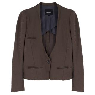 Isabel Marant Khaki Knit Deep V Blazer