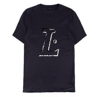 Lanvin L Print Navy T-Shirt