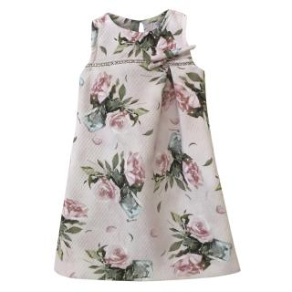 Monnalisa pale pink textured rose dress age 4 years