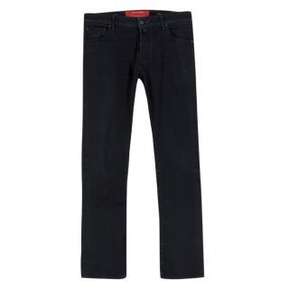 Jacob Cohen Black Straight Jeans