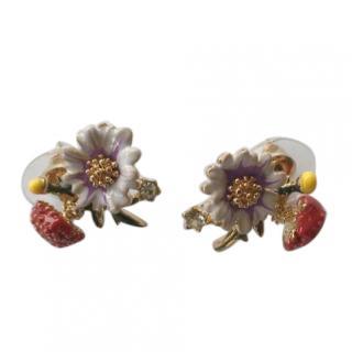 Les Nereides flower toadstool earings