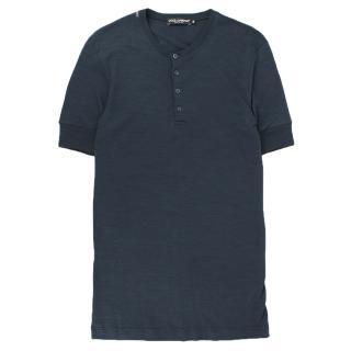 Dolce and Gabbana Blue Polo Shirt
