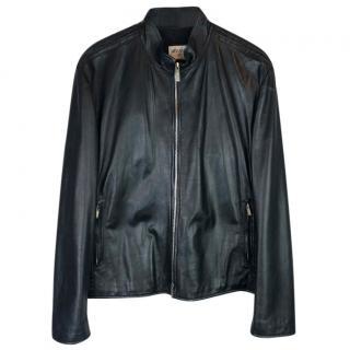 Armani Collezioni Nappa Lamb Leather Biker Jacket