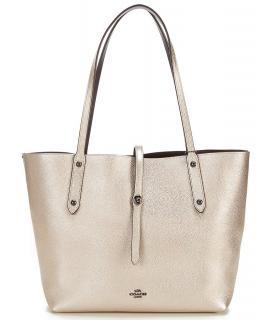 Coach Metallic Market Tote Bag