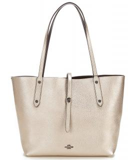 Coach Metallic Market Tote Bag
