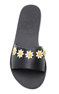 Ancient Greek Sandals x Fabrizio Viti Paola Embellished Leather Slides
