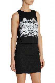 Faith Connexion Black Rorschach Print Jersey/Jacquard Dress XS
