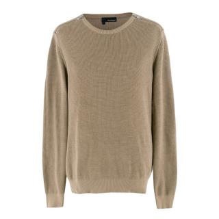 The Kooples Khaki Knit Jumper