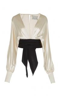 Johanna Ortiz tawari silk satin top