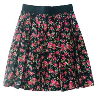 Dolce & gabbana Red Roses cotton skirt