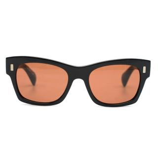 The Row x Oliver Peoples Black Rectangular Sunglasses