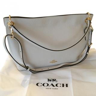 Coach cream leather hobo bag
