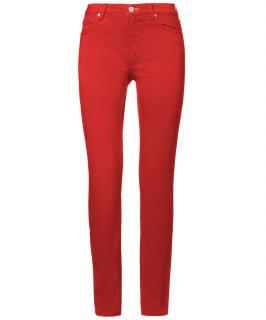 Acne flex satin red jeans