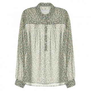 Gerard Darel Sheer Floral Shirt