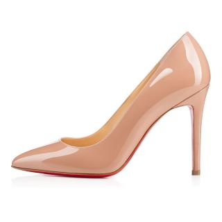 Christian Louboutin Pigalle 100 Nude Patent Leather Pumps