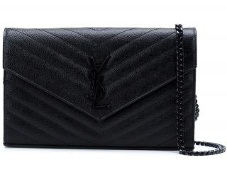 Saint Laurent All Black Wallet On Chain